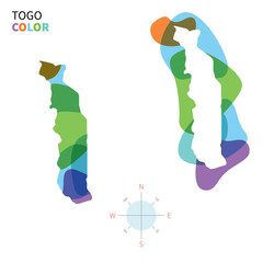 Abstract vector color map of Togo
