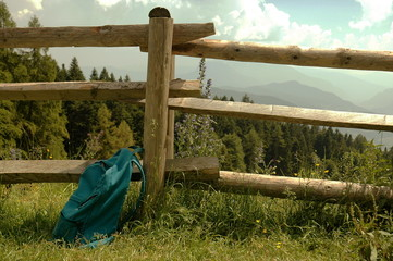 The fence in the mountains