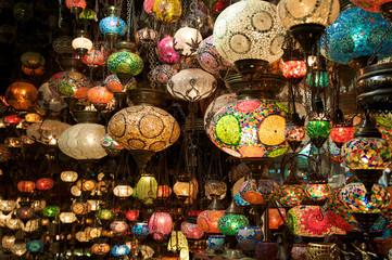 Lampade in un bazar