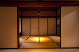 Traditional japanese edo period house room at Kyoto