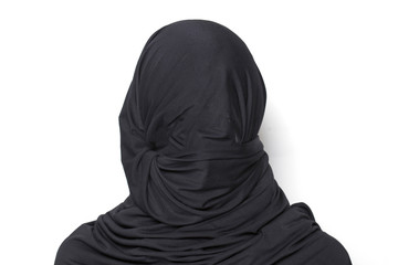 Woman totally covered by a burqa