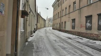 Vilnius. Old street. Includes three shooting plans