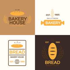 Set of Bakery Logo sign and symbol