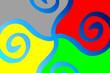 canvas print picture - Farben - rot grün blau gelb grau