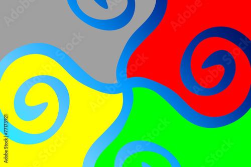 canvas print picture Farben - rot grün blau gelb grau