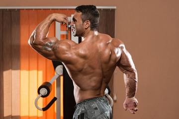 Bodybuilder Showing Perfect Biceps