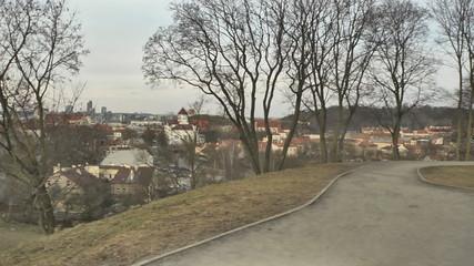 Fortification in the old Vilnius. Jan. 2015