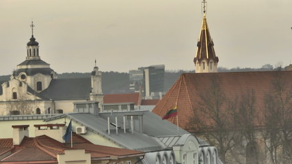 Vilnius. Roofs and yard of Old Town.