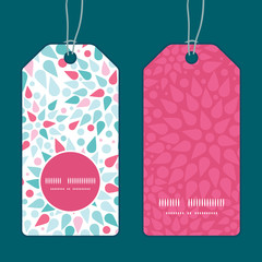 Vector abstract colorful drops vertical round frame pattern tags