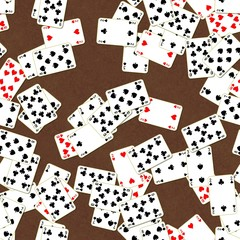 Seamless texture of playing cards
