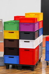 Colourful crates