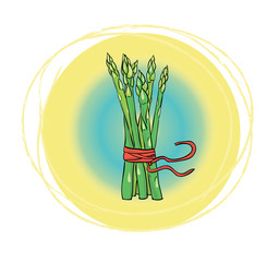 Иконка с изображением спаржи
