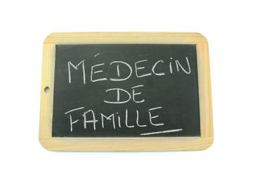 ardoise médecin de famille