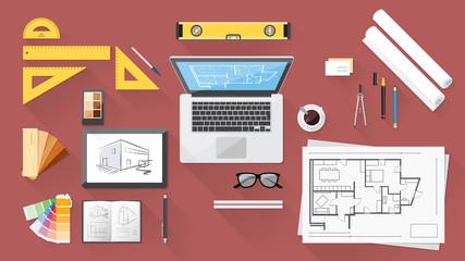 Architect desk