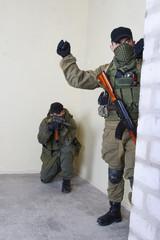 rebels with AK 47