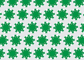 green casino chips,