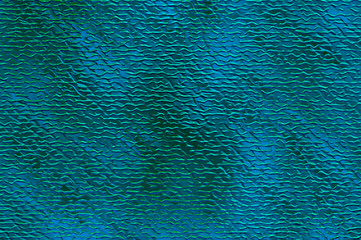 Illuminated cross curved stripes - waves on cerulean backdrop.