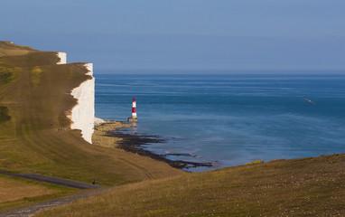 Beachy Head Lighthouse and calm seas