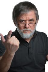 Mann ist böse