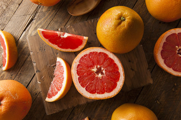 Healthy Organic Red Ruby Grapefruit
