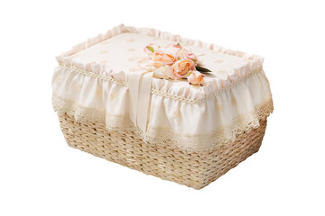 wicker decorative furniture isolated under the white background