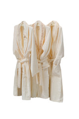 dressing gowns  on the hanger