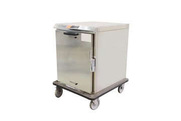 professional mobile cooking cabinet isolated