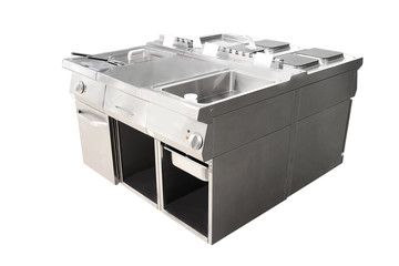 deep fryer and restaurant stove