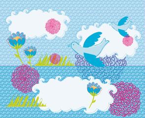 vögel Postkarte taube