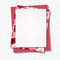 Vector card with roses pattern.