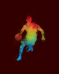Basketball Art 1 Dark