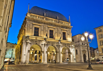 Loggia Square, Brescia, Italy