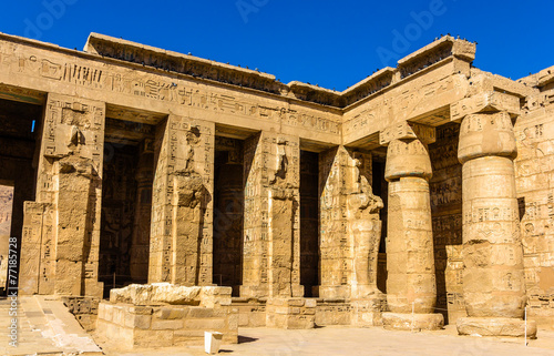 Poster Egypte Mortuary Temple of Ramses III. near Luxor in Egypt