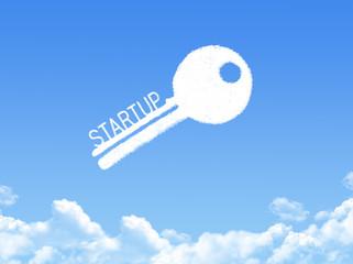 Key to Startup cloud shape