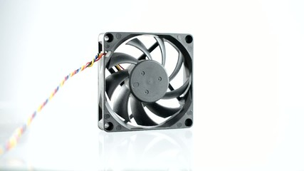Computer fan on a white background