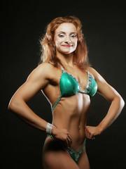 beautiful woman bodybuilder