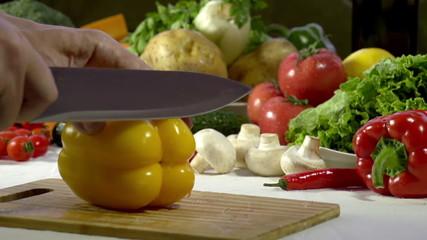 Cutting Knife Bell Pepper