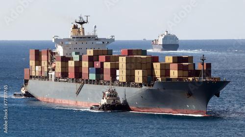 Leinwandbild Motiv Container Ships