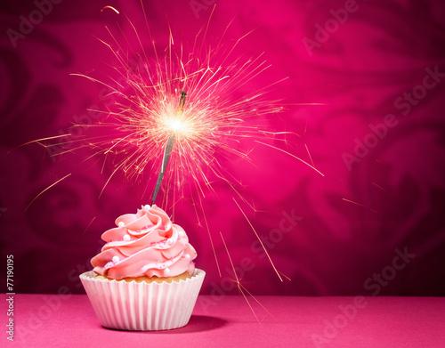 Birthday Sparkler Cupcake - 77190195