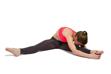 fitness woman stretching