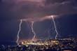 Beautiful lightning at night