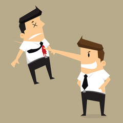 kill colleague the end of businessman long nose