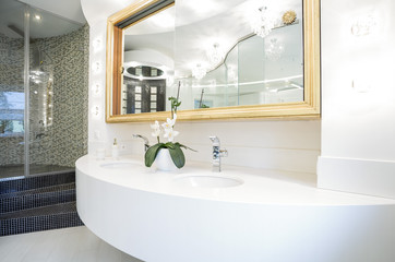 Washbasin in luxury bathroom