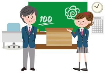 教室 学生 笑顔