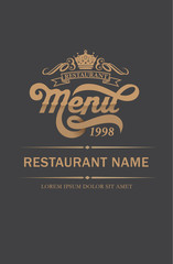 Cover Restaurant menu design