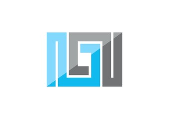 Infinity construction business logo,geometry connection square
