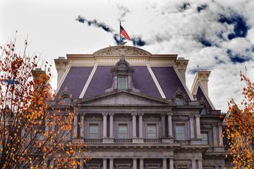 Old Executive Office Building Flag Washington DC