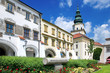 Leinwanddruck Bild - Kromeriz castle (UNESCO) and square, Moravia, Czech republic