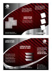 Vector modern tri-fold brochure design template