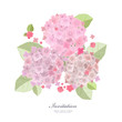 Collection a beautiful of flowers, pink hydrangea for your desig